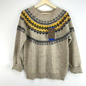 NWT Weatherproof Vintage Womens Fair Isle Sweater